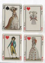 Collectable vintage playing cards courts. Jeu des Modes by Grimaud